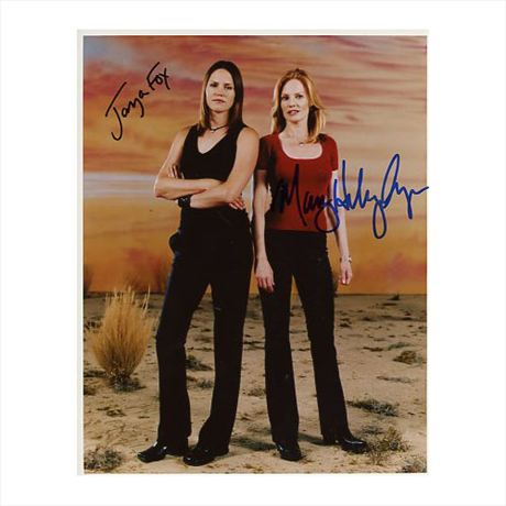 Jorja fox marg helgenberger csi autographed in person picture